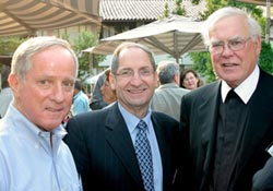 Brother President Ronald Gallagher '69 (right) welcomes fellow Gaels back to campus during the Alumni Reunion.