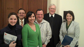 Brother Ronald Gallagher meets with Congressional staffers