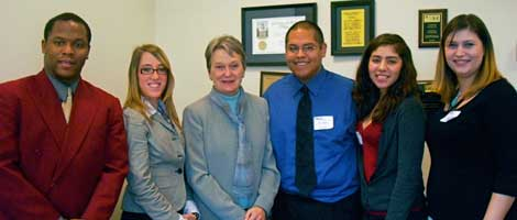 Saint Mary's students meet with Calif. State Senator Loni Hancock to discuss the Cal Grant.