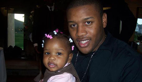 Clifton Harrison with his daughter, Mikayla.