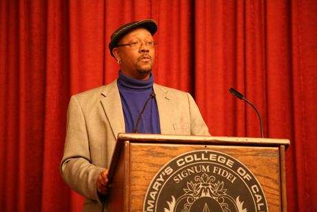 Davey D, host of KPFA's Hard Knock Radio, appeared on campus on Jan. 13 as part of the Jan Term Speaker Series.