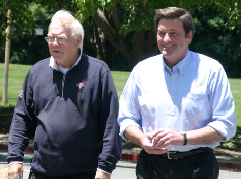 Br. Ronald Gallagher and Lt. Governer John Garamendi. Photo by Bill Sullivan.
