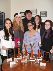 Erika Reames, Kaitlin Kellogg, Noah O'Connor, Ana Diaz, Shannon Daley, and Maggie Powers