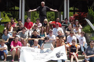 Joey Travolta and his campers.