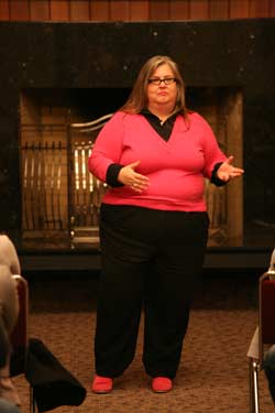Author Marilynn Wann delivered an address in the Soda Center on Jan. 21 as part of the Jan Term Speaker Series.